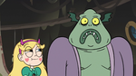 S3E5 Buff Frog embarrassed; Star Butterfly amused