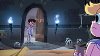 S4E1 Marco enters wearing pajamas