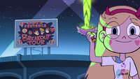 S2E39 Star Butterfly fires green energy into the air
