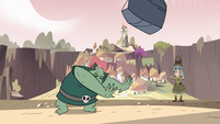 S3E17 Buff Frog tossing the boulder