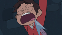 S3E7 Marco Diaz threatened with a spear