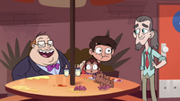 S4E26 Skeeves slaps Marco on the back