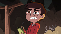 S4E31 Marco Diaz analyzing the hieroglyphics