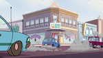 S2E24 Pony Head driving uncontrollably through town