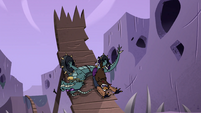 S4E22 Talon crashes on other side of jump