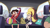 S4E27 Marco and Star inside the taxi
