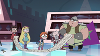 S3E15 Squires looking at Marco's shopping list