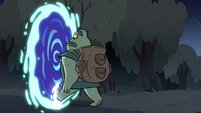 S3E31 Buff Frog about to leave Mewni