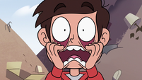 S2E24 Marco Diaz pulling on his eye sockets