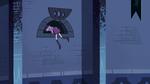S3E6 Mime Girl climbing into the castle vents