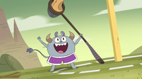 S4E16 Monster kid catches the final kick