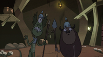 S2E20 Monster guards notice Buff Frog and Meat Fork