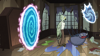 S3E30 Spider comes out of a third portal