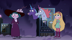S4E9 Azniss and Khrysthalle greet Eclipsa