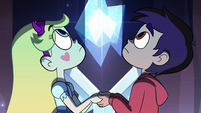 S4E13 Star Butterfly and Marco look upward