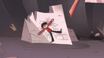 S3E7 Marco Diaz gets thrown back into a rock