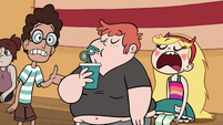 S1E5 Ferguson sips from cup of water