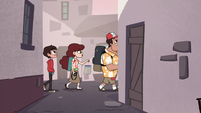 S1E9 Diazes walking through an alleyway
