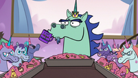 S3E21 King Pony Head nervously sipping coffee