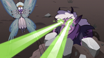 S3E36 Meteora firing more lasers at Queen Moon