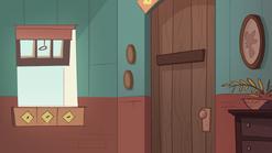 The Other Exchange Student background - Star's bedroom door