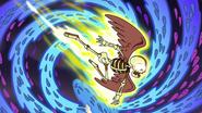 S3E19 Winged skeleton flying past the swirl of souls