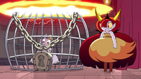 S4E24 Hekapoo locks Eclipsa inside a cage