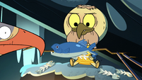 S2E2 Eagle and spider giving fish to Ludo