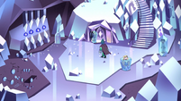 S2E34 Wide-view of Rhombulus's crystal residence