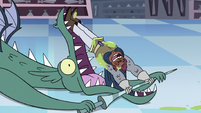 S3E15 Sir Stabby prying open the dragon's jaws