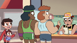 S4E26 Marco talking to the bodybuilders