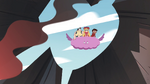 S4E2 Star, Marco, and River over the volcano