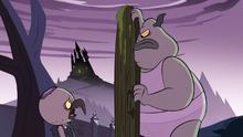 S1e24 ludo talks to buff frog through the door