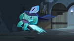 S3E11 Crystal beam hits Rhombulus in the butt