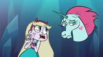 S1e2 star talking to a sad pony head