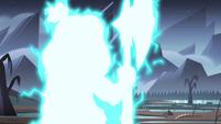 S4E28 Brunzetta vanishing in flash of lightning