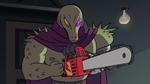 S2E18 Rasticore successfully starts his chainsaw