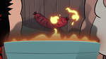 S2E29 Hot dog floating over the grill