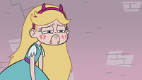 S3E8 Star Butterfly sad with broken cheek hearts