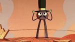 S2E22 Spider With a Top Hat looking determined