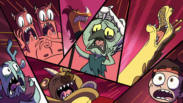 File:S1E3 Marco, Ludo, and minions screaming.png
