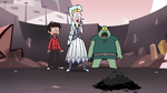 S3E7 Marco, Moon, and Buff Frog look at crystal dust