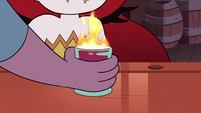 S3E22 Bartender places drink in front of Hekapoo