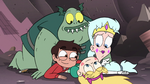 S3E7 Star, Marco, Moon, and Buff Frog happily reunited