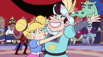 S3E10 Star Butterfly dances with happy Manfred