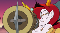 S3E22 Hekapoo aiming the harpoon gun