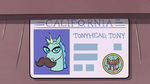 S3E21 Teta Pony Head's fake ID card