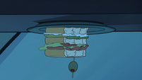 S1e24 upside down view of sandwich
