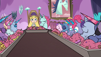 S3E21 Star Butterfly watching the Pony Heads eat