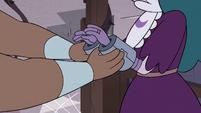 S3E37 Lady Whosits shackles Eclipsa's hands